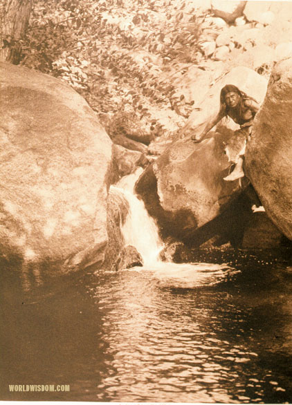 """Fisherman"" - Miwok, by Edward S. Curtis from The North American Indian Volume 14"