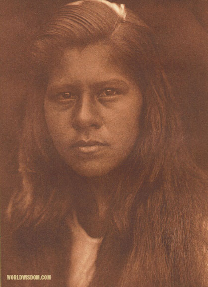 """Sherwood Valley girl"" - Pomo, by Edward S. Curtis from The North American Indian Volume 14"