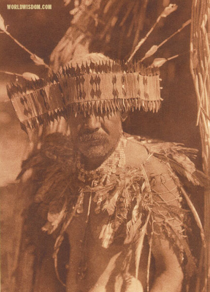 """Pomo dance costume"", by Edward S. Curtis from The North American Indian Volume 14"