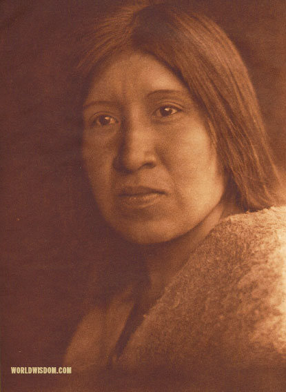 """A desert Cahuilla woman"", by Edward S. Curtis from The North American Indian Volume 15"
