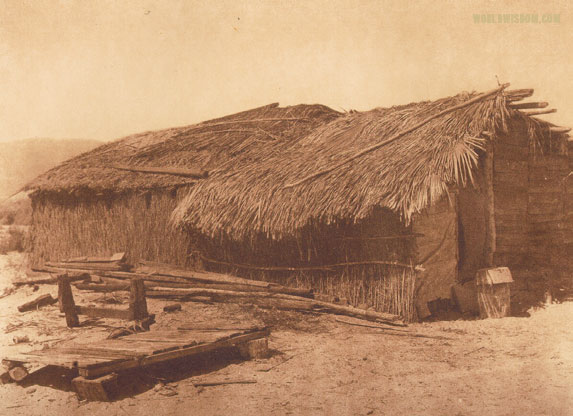 """Desert Cahuilla home"", by Edward S. Curtis from The North American Indian Volume 15"
