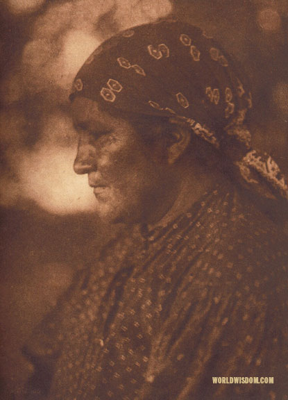 """A woman of Palm Springs"" - Cahuilla, by Edward S. Curtis from The North American Indian Volume 15"