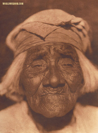 """A Santa Ysabel woman"" - Diegueño, by Edward S. Curtis from The North American Indian Volume 15"