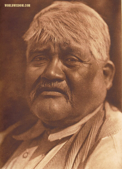 """A Capitan Grande man"" - Diegueño, by Edward S. Curtis from The North American Indian Volume 15"