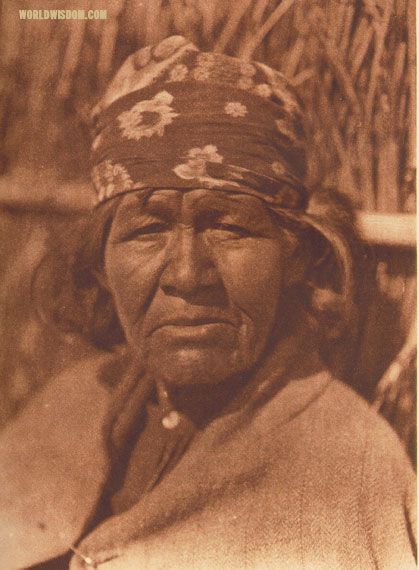 """A Capitan Grande woman"" - Diegueño, by Edward S. Curtis from The North American Indian Volume 15"