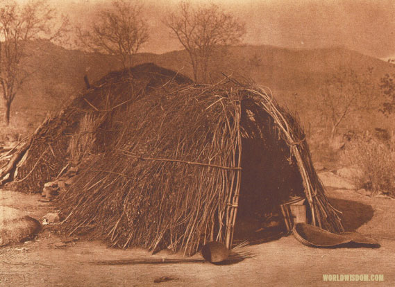 """Mono house near Independence"", by Edward S. Curtis from The North American Indian Volume 15"