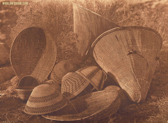 """Mono basketry"", by Edward S. Curtis from The North American Indian Volume 15"