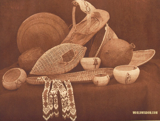 """Paviotso basketry"", by Edward S. Curtis from The North American Indian Volume 15"