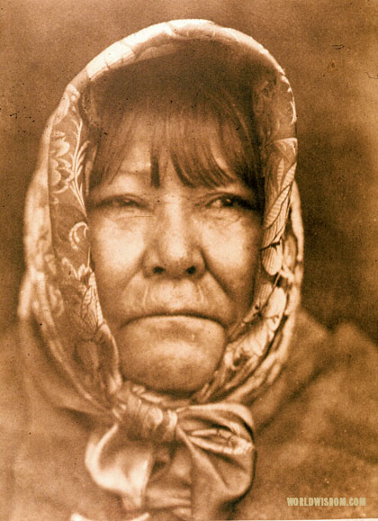 """Datsolali, Washo basket-maker"", by Edward S. Curtis from The North American Indian Volume 15"