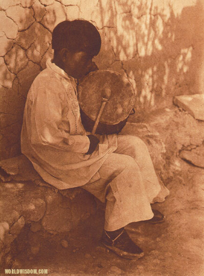 """An Isleta boy"", by Edward S. Curtis from The North American Indian Volume 16"