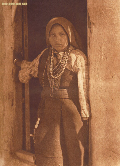"""An Isleta girl"", by Edward S. Curtis from The North American Indian Volume 16"