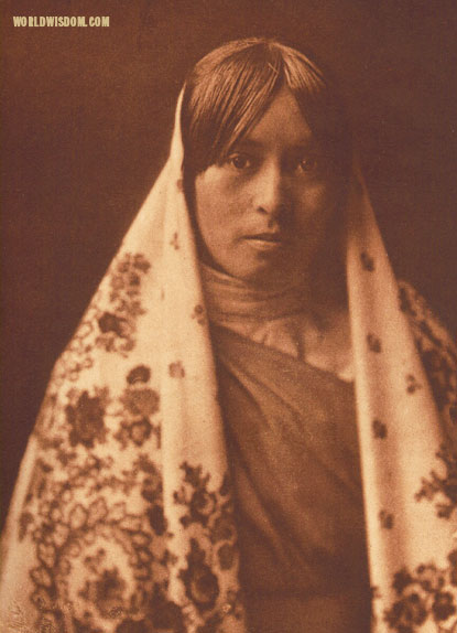 """Walvia - 'Medicine Root'"" - Taos, by Edward S. Curtis from The North American Indian Volume 16"