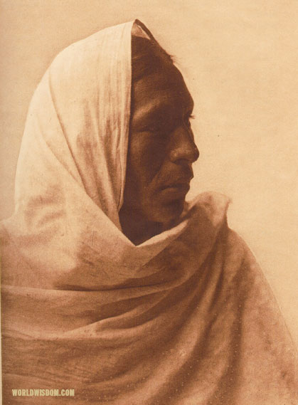 """Iahla - 'Willow'"" - Taos, by Edward S. Curtis from The North American Indian Volume 16"