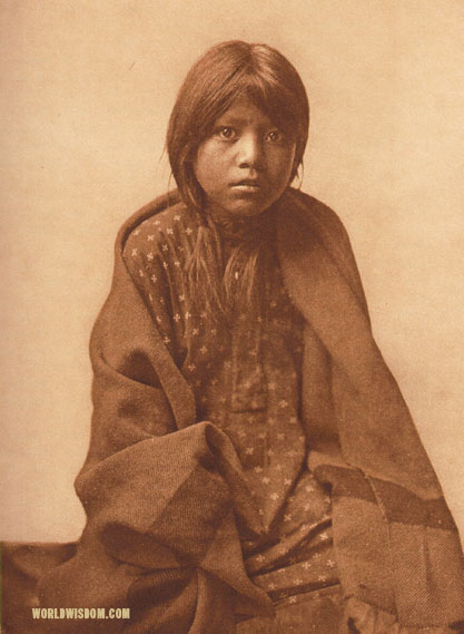 """A Taos girl"", by Edward S. Curtis from The North American Indian Volume 16"