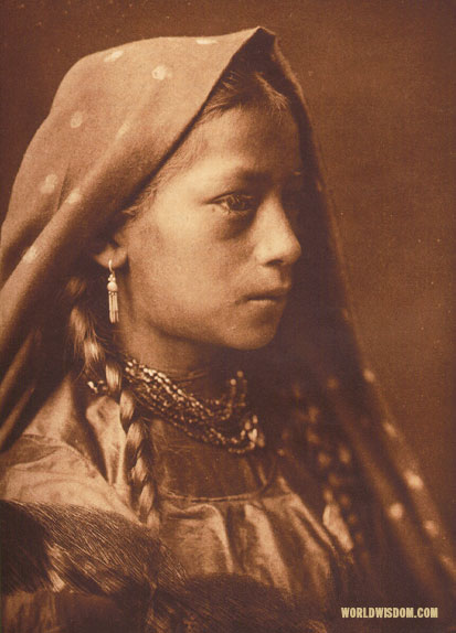 """A Taos maid"", by Edward S. Curtis from The North American Indian Volume 16"