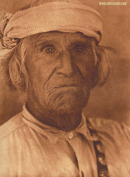 """Santana Quintana"" - Cochiti, by Edward S. Curtis from The North American Indian Volume 16"