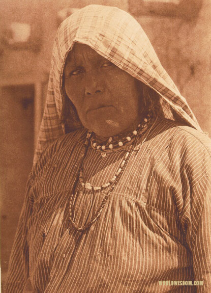 """A Cochiti woman"", by Edward S. Curtis from The North American Indian Volume 16"