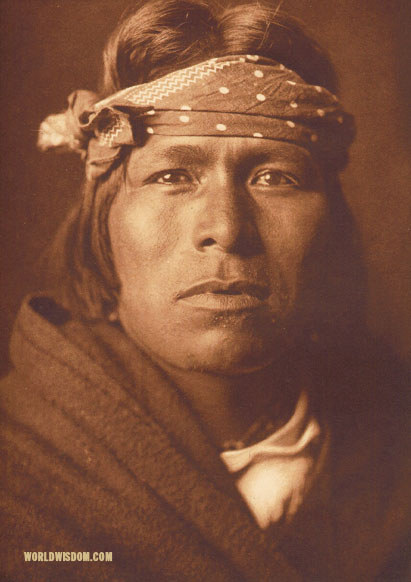 """An Acoma man"", by Edward S. Curtis from The North American Indian Volume 16"