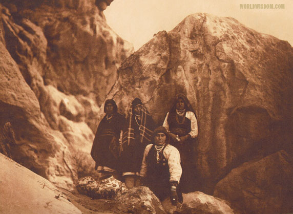 """Among the rocks"" - Acoma, by Edward S. Curtis from The North American Indian Volume 16"