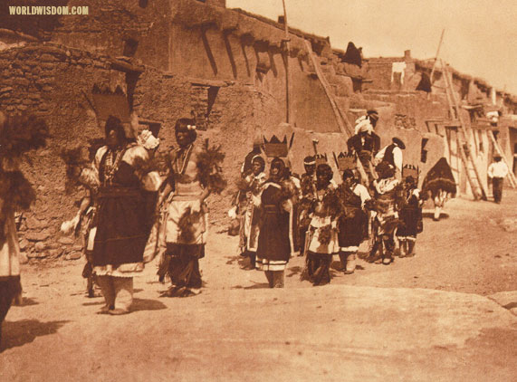 """Fiesta of San Estevan"" - Acoma, by Edward S. Curtis from The North American Indian Volume 16"