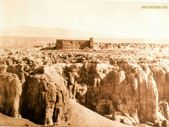 """Acoma from the south"", by Edward S. Curtis from The North American Indian Volume 16"