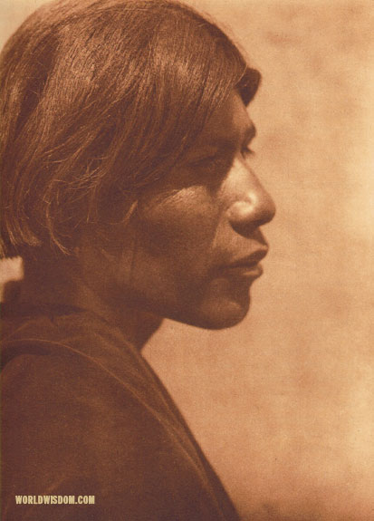 """Sotsona - 'Fox'"" - Santo Domingo, by Edward S. Curtis from The North American Indian Volume 16"