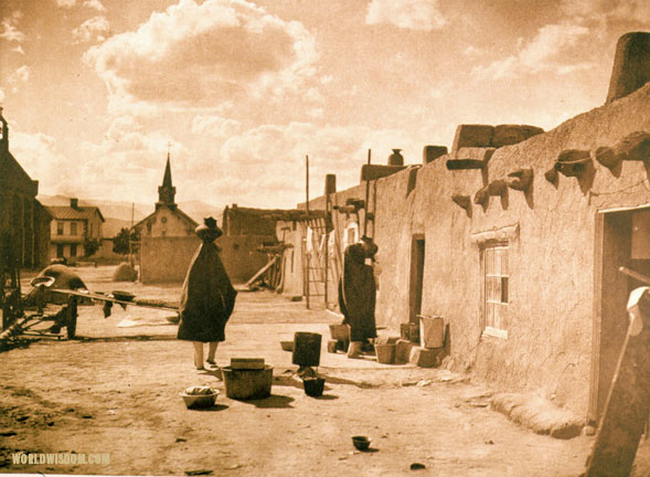 """Street scene - San Juan"", by Edward S. Curtis from The North American Indian Volume 17"