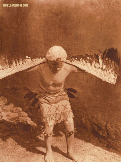 """Eagle dancer - San Ildefonso"", by Edward S. Curtis from The North American Indian Volume 17"