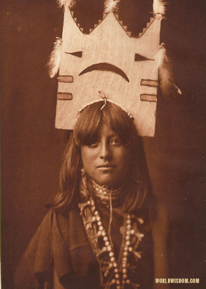 """Tablita woman dancer - San Ildefonso"", by Edward S. Curtis from The North American Indian Volume 17"