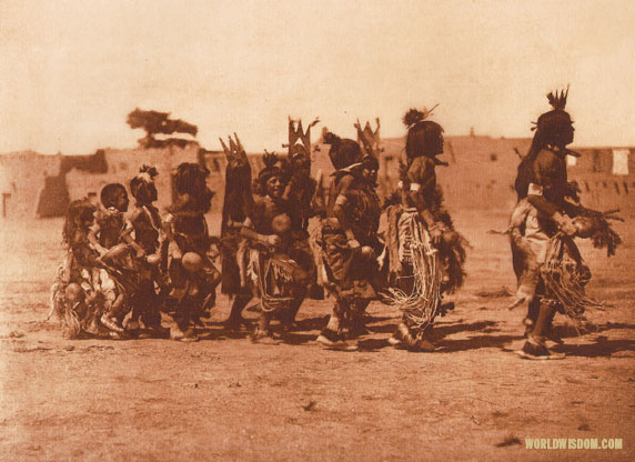 """Tablita dance 'B'- San Ildefonso"", by Edward S. Curtis from The North American Indian Volume 17"