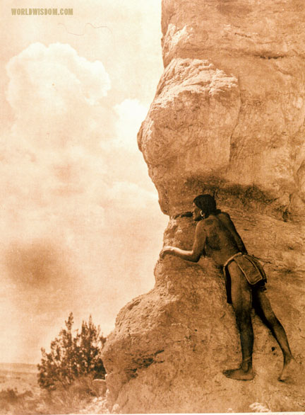 """Sentinel - San Ildefonso"", by Edward S. Curtis from The North American Indian Volume 17"