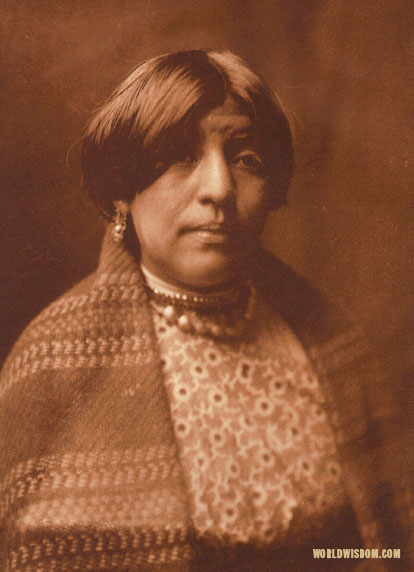 """Yan-tse - 'Willow Yellow' - Nambe"", by Edward S. Curtis from The North American Indian Volume 17"