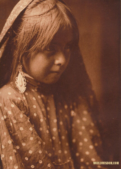 """A Nambe girl"", by Edward S. Curtis from The North American Indian Volume 17"