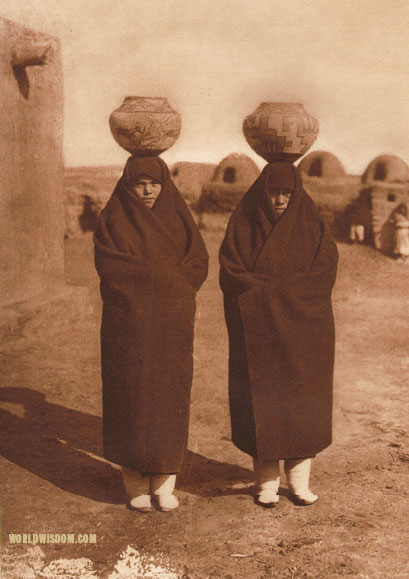 """Zuni water carriers"", by Edward S. Curtis from The North American Indian Volume 17"
