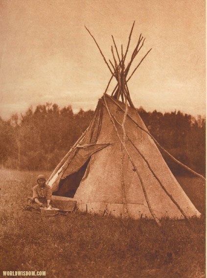 """A Chipewyan tipi"", by Edward S. Curtis from The North American Indian Volume 18"