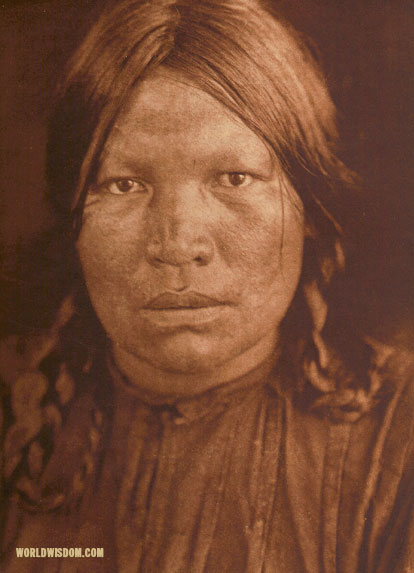 """A Chipewyan woman"", by Edward S. Curtis from The North American Indian Volume 18"