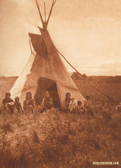 """Berry-pickers in camp"" - Chipewyan, by Edward S. Curtis from The North American Indian Volume 18"