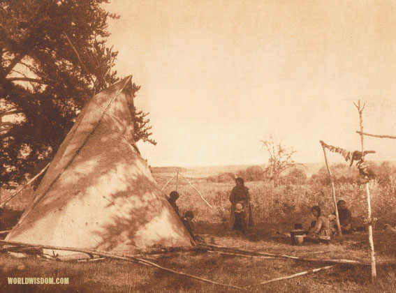 """Cree fishing camp"", by Edward S. Curtis from The North American Indian Volume 18"