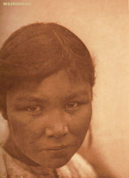 """A Cree girl"", by Edward S. Curtis from The North American Indian Volume 18"
