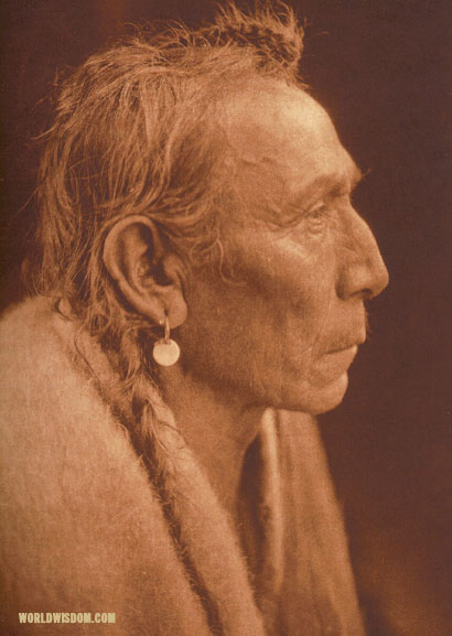 """Aki-tanni - 'Two Guns'"" - Sasri, by Edward S. Curtis from The North American Indian Volume 18"