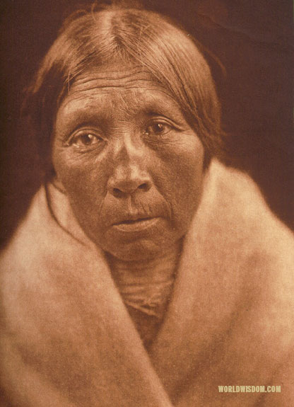 """Missi-tsatsa - 'Owl Old-woman'"" - Sasri, by Edward S. Curtis from The North American Indian Volume 18"