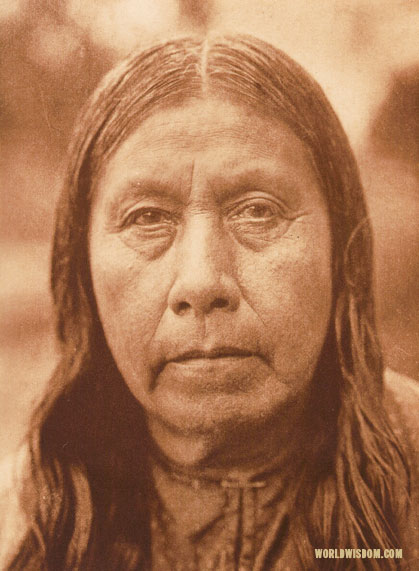 """A Wichita matron"", by Edward S. Curtis from The North American Indian Volume 19"