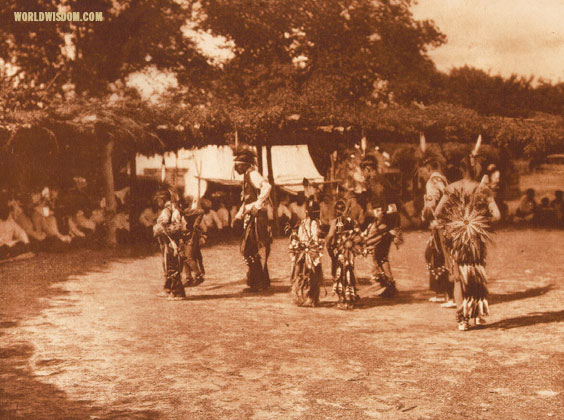 """Dancers"" - Wichita, by Edward S. Curtis from The North American Indian Volume 19"