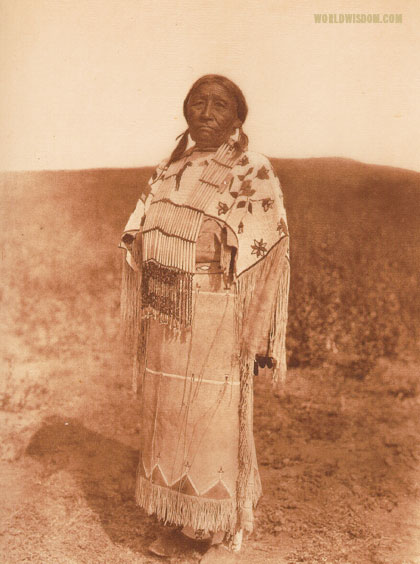 """Woman's costume"" - Southern Cheyenne, by Edward S. Curtis from The North American Indian Volume 19"