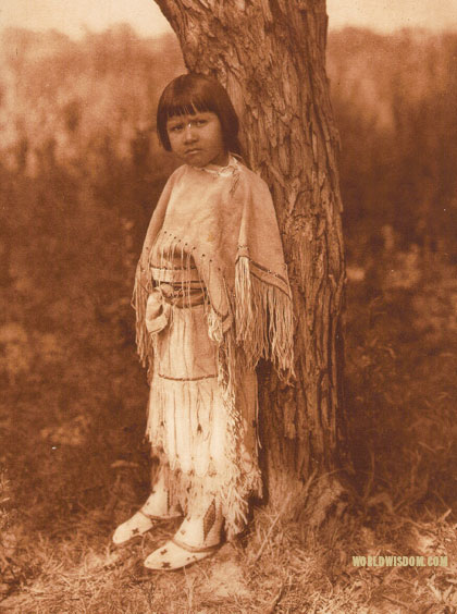 """Cheyenne Child"", by Edward S. Curtis from The North American Indian Volume 19"