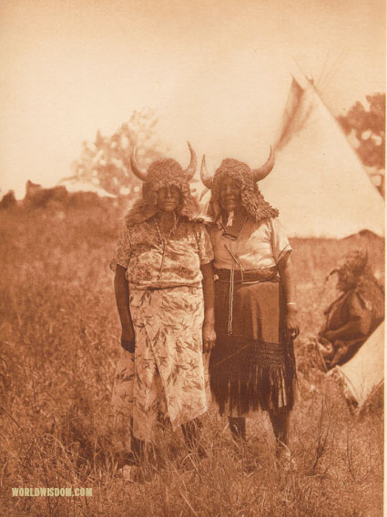 """Buffalo dancers, animal dance"" - Southern Cheyenne, by Edward S. Curtis from The North American Indian Volume 19"