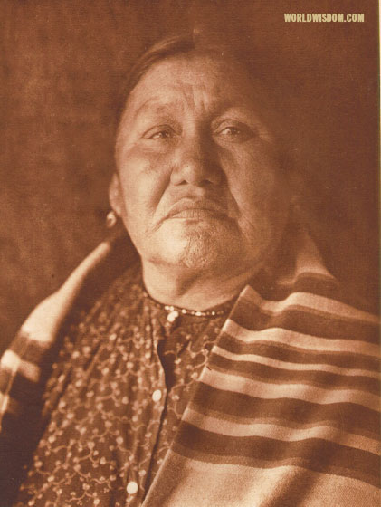 """Wife of Wakonda"" - Oto, by Edward S. Curtis from The North American Indian Volume 19"