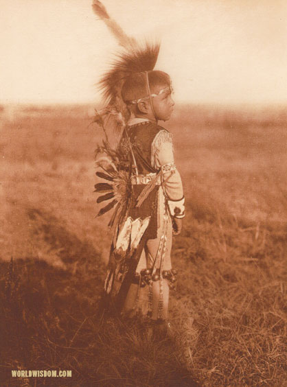 """A little Oto"", by Edward S. Curtis from The North American Indian Volume 19"