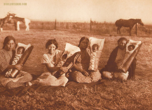 """Comanche mothers"", by Edward S. Curtis from The North American Indian Volume 19"