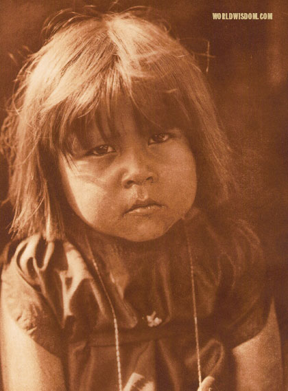 """A little Comanche"", by Edward S. Curtis from The North American Indian Volume 19"